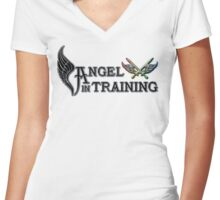 Angel in Training Women's Fitted V-Neck T-Shirt