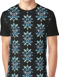 EVIL EYE WITH CHAOS STAR - blues Graphic T-Shirt