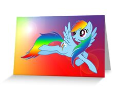 Rainbow Dash Brony T-shirt Greeting Card
