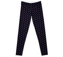Purple Pixel Sword Pattern Leggings