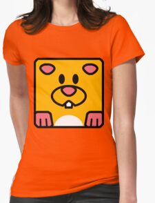 Cheeks the Hamster Womens Fitted T-Shirt