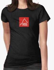 East Peak Apparel - Red Square Large Logo Womens Fitted T-Shirt