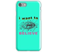 I Want To Believe - Crop Circle iPhone Case/Skin