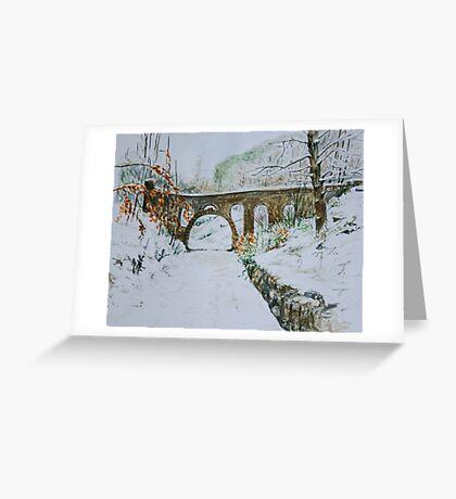 Seven arches bridge at Rivington Pike Greeting Card