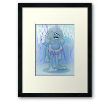 Yeti - COLOURED Framed Print