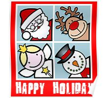 merry christmas - holiday Poster