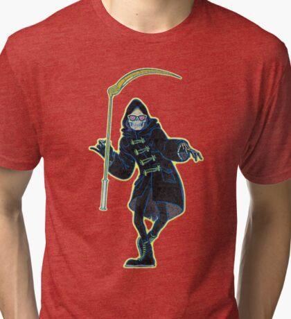 Let it Die Uncle Death with sickle Grim Reaper Tri-blend T-Shirt