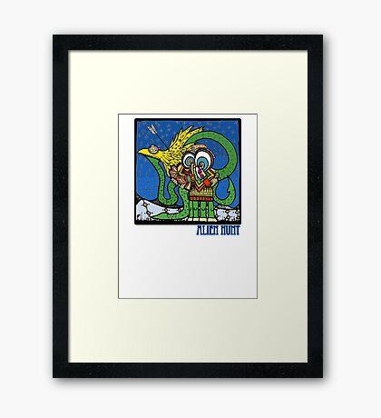 Alien Hunt Framed Print