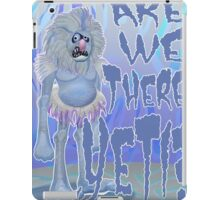 Are we there Yeti? COLOURED iPad Case/Skin