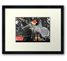 Peace, Love & Joy in Nature Framed Print