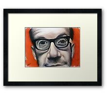 Thick Black Glasses - Elvis Framed Print