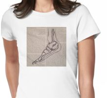 Anatomical foot sketch on book Womens Fitted T-Shirt