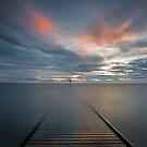 Sunset over Lytham Jetty in Lancashire by Martin Lawrence