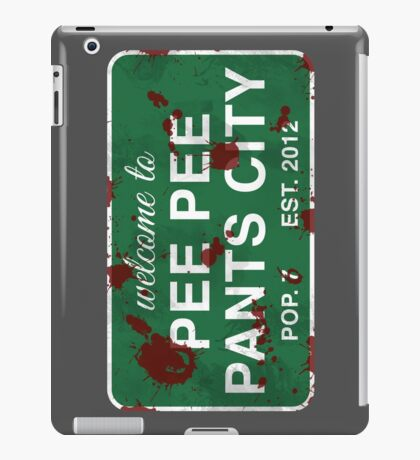 Pee Pee Pants City (Graphic Novel Version) iPad Case/Skin