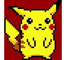 Pikachu Pixel Art Photographic Print