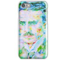 NIKOLA TESLA watercolor portrait iPhone Case/Skin