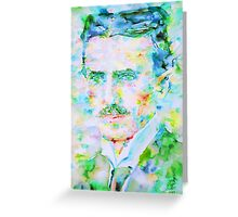 NIKOLA TESLA watercolor portrait Greeting Card