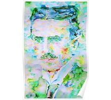 NIKOLA TESLA watercolor portrait Poster