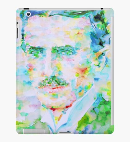 NIKOLA TESLA watercolor portrait iPad Case/Skin