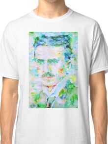 NIKOLA TESLA watercolor portrait Classic T-Shirt