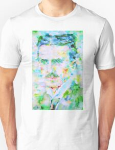 NIKOLA TESLA watercolor portrait T-Shirt