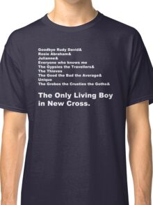 Carter USM - The Only Living Boy in New Cross Line-Up Classic T-Shirt