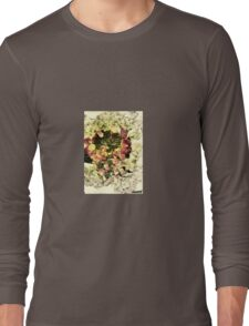 white/red/petals Long Sleeve T-Shirt