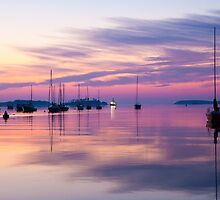 Sunrise in Mahone Bay, NS by jwellsphoto