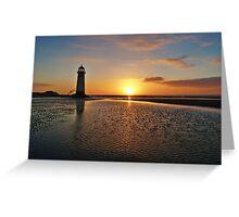 Sunset Talacre Lighthouse 2 Greeting Card