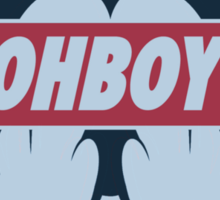 Stereoscopic ohboy Sticker