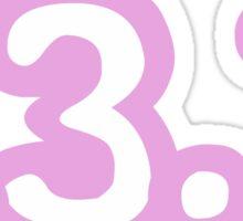 iRun 13.1 Pink Sticker Sticker