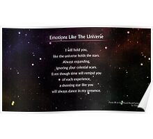 Emotions Like The Universe #studybreakpoetry Poster