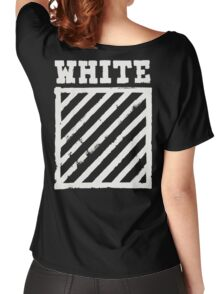 Off-White Brushed Diagonals Stripe v1 Women's Relaxed Fit T-Shirt
