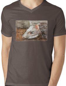 Watercolor Tapir Portrait Mens V-Neck T-Shirt