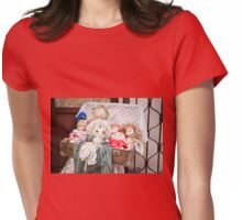 Retro rag dolls toys collection Womens Fitted T-Shirt