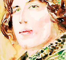 OSCAR WILDE watercolor portrait by lautir
