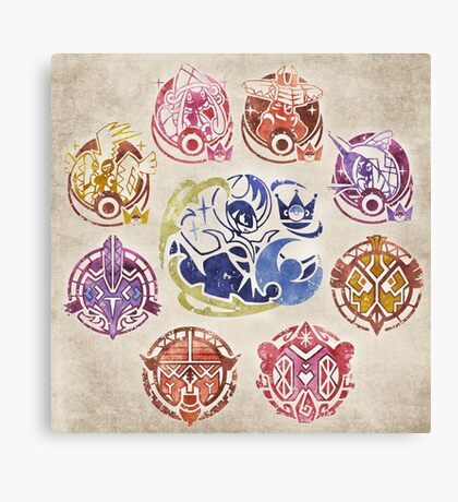 Alola Stamp - Lunala Canvas Print