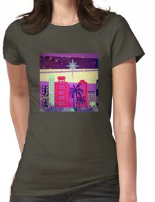 Stardust Christmas Skyline Womens Fitted T-Shirt