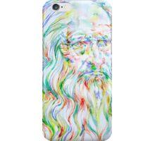 LEONARDO DA VINCI - watercolor portrait iPhone Case/Skin