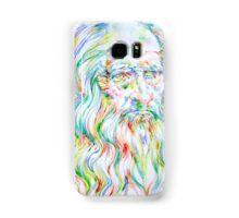 LEONARDO DA VINCI - watercolor portrait Samsung Galaxy Case/Skin