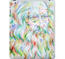 LEONARDO DA VINCI - watercolor portrait iPad Case/Skin
