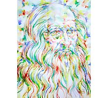LEONARDO DA VINCI - watercolor portrait Photographic Print