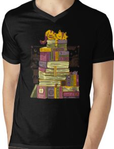Sleeping On My Treasure Mens V-Neck T-Shirt