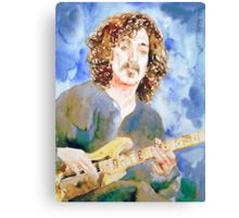 FRANK ZAPPA PLAYING the GUITAR watercolor portrait Canvas Print