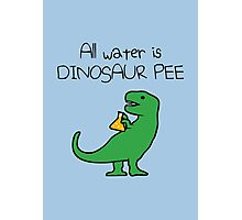 All Water Is Dinosaur Pee (T-Rex) Photographic Print