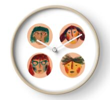 funny faces Clock