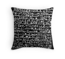 Ancient Egyptian Hieroglyphics Throw Pillow
