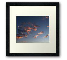 Fire cloud formation Framed Print