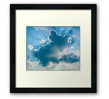 Teddybear in the clouds Framed Print