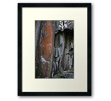 Close up of slate walls Framed Print